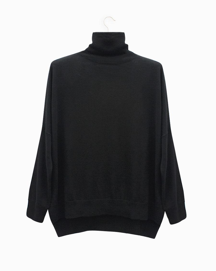 Lebor Gabala Jersey de cuello alto negro
