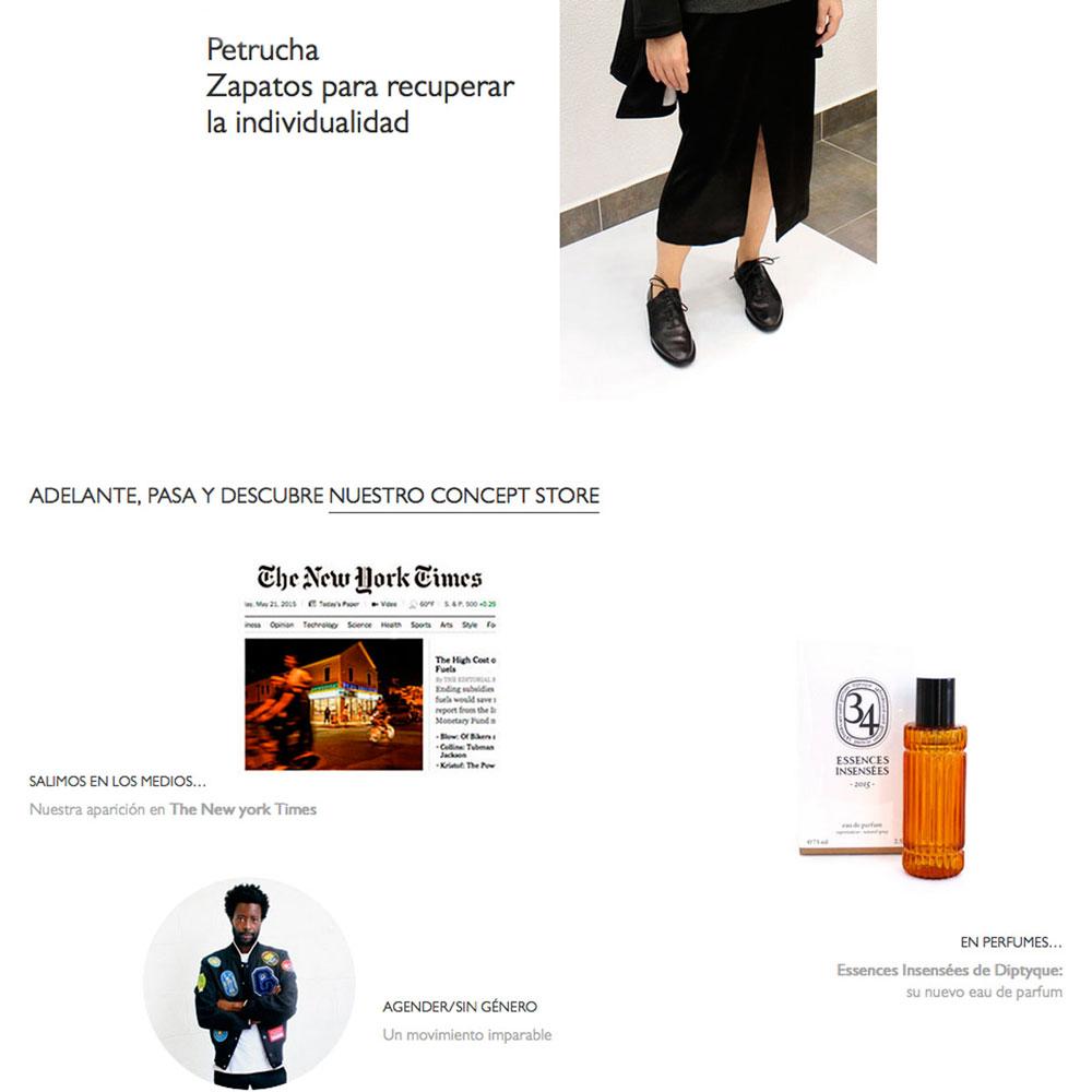 Web Arropame Concept Store Bilbao