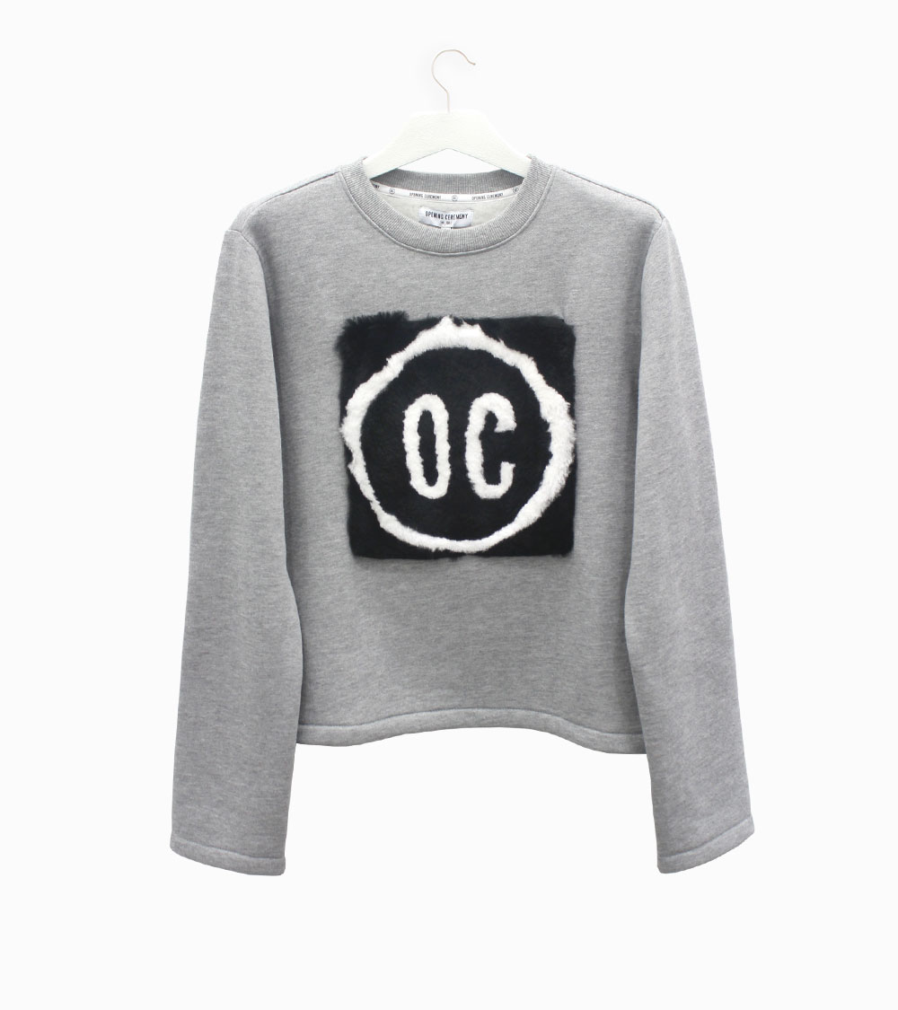 Opening Ceremony Sweatshirt with OC logo and rabbit fur at Arropame Bilbao