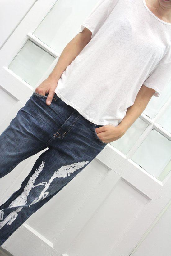 La edición limitada de jeans pintados a mano en Arropame